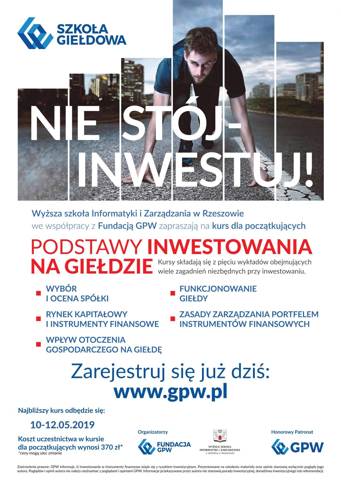 Kurs: Podstawy inwestowania nagiełdzie