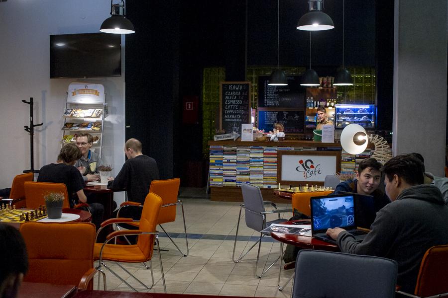 Kampus WSIiZ wRzeszowie. IC Cafe.
