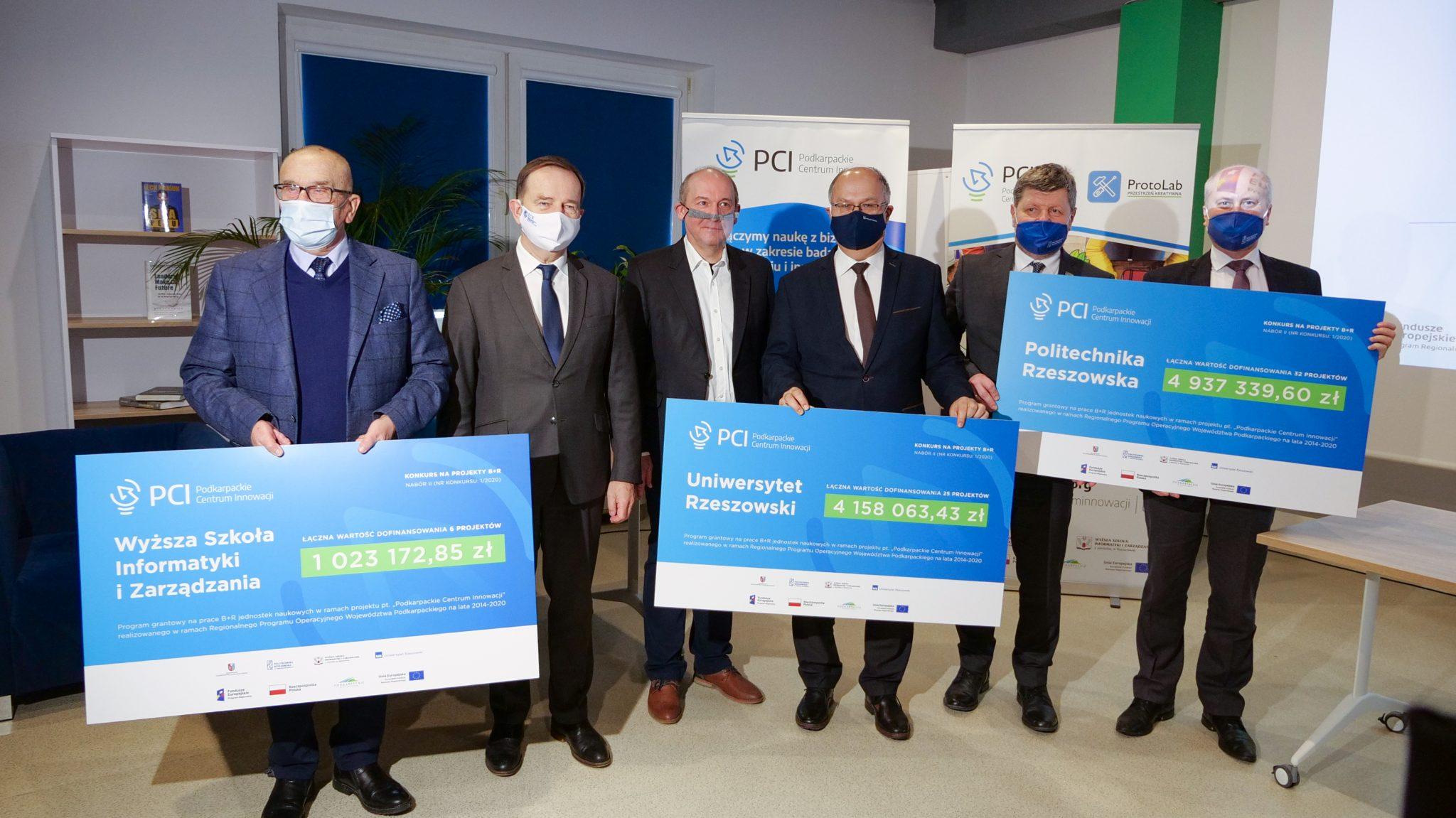 Podkarpackie Centrum Innowacji - Odbiór czeków