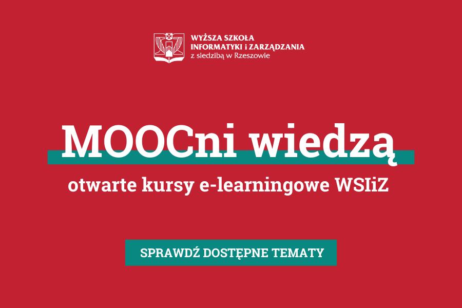 MOOCni wiedzą - kursy online